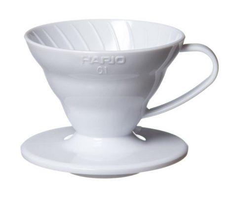 Hario V60 01 műanyag dripper - fehér