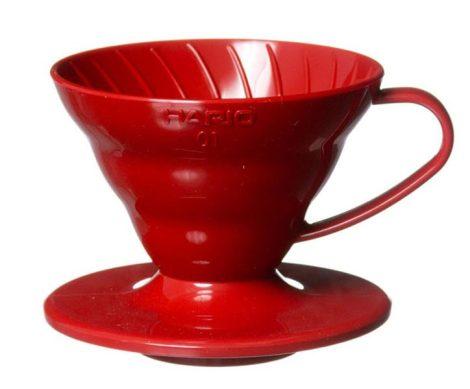 Hario V60 01 műanyag dripper - piros